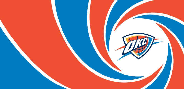 007 Oklahoma City Thunder logo decal sticker