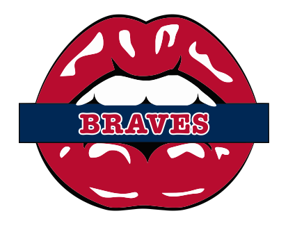 Atlanta Braves Lips Logo decal sticker