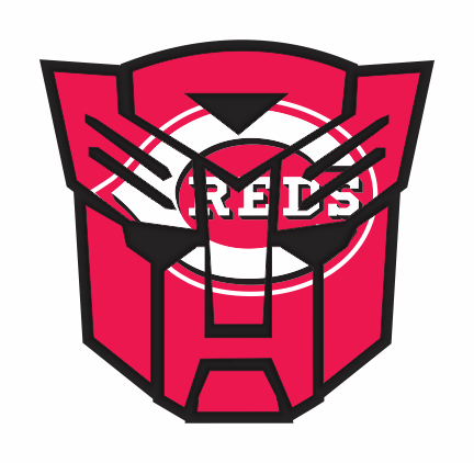 Autobots Cincinnati Reds logo decal sticker