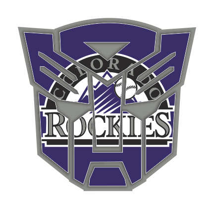 Autobots Colorado Rockies logo decal sticker