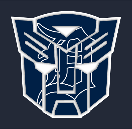 Autobots Detroit Tigers logo decal sticker