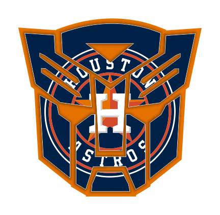 Autobots Houston Astros logo decal sticker