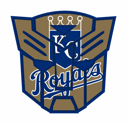 Autobots Kansas City Royals logo decal sticker