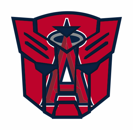 Autobots Los Angeles Angels of Anaheim logo decal sticker