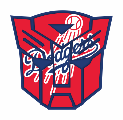 Autobots Los Angeles Dodgers logo decal sticker
