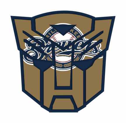 Autobots Milwaukee Brewers logo decal sticker