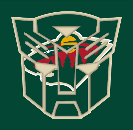 Autobots Minnesota Wild logo iron on sticker