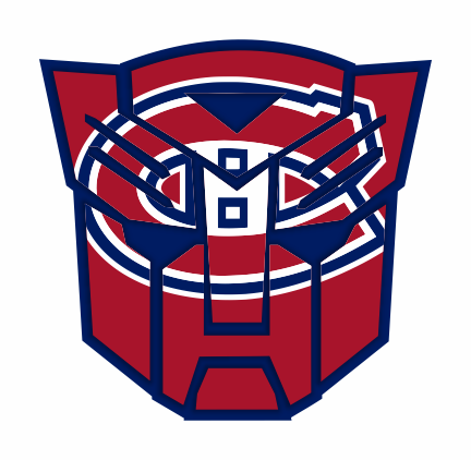 Autobots Montreal Canadiens logo iron on sticker