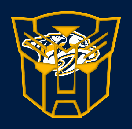 Autobots Nashville Predators logo iron on sticker