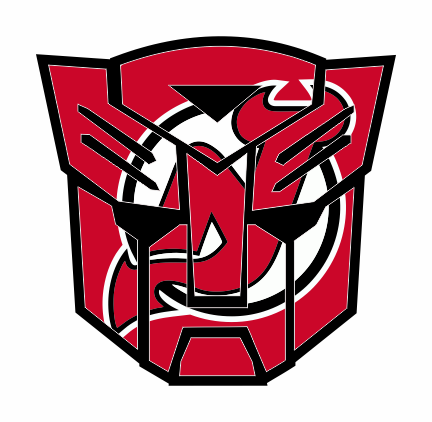 Autobots New Jersey Devils logo iron on sticker