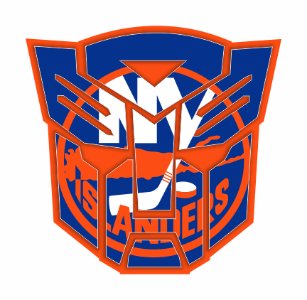Autobots New York Islanders logo iron on sticker