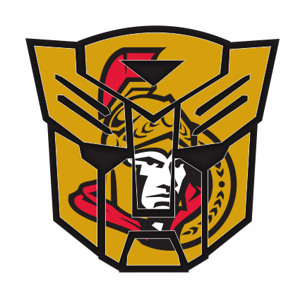 Autobots Ottawa Senators logo iron on sticker