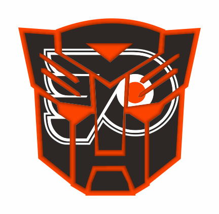 Autobots Philadelphia Flyers logo iron on sticker