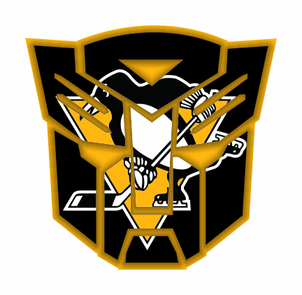 Autobots Pittsburgh Penguins logo iron on sticker