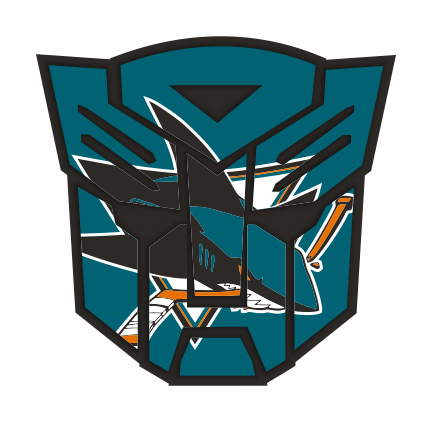 Autobots San Jose Sharks logo iron on sticker
