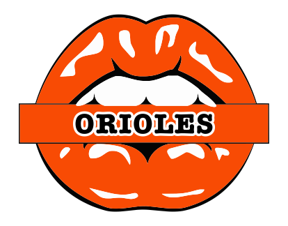 Baltimore Orioles Lips Logo decal sticker