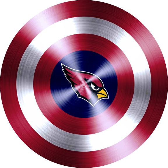 Captain American Shield With Arizona Cardinals Logo decal sticker