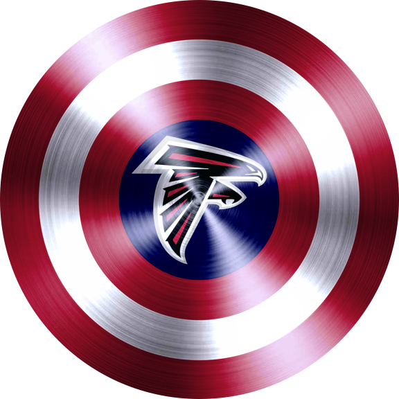 Captain American Shield With Atlanta Falcons Logo decal sticker