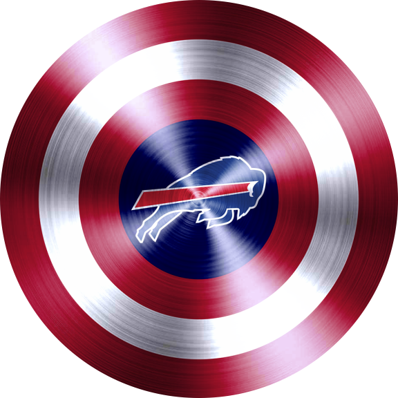 Captain American Shield With Buffalo Bills Logo decal sticker