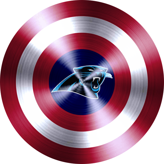Captain American Shield With Carolina Panthers Logo decal sticker
