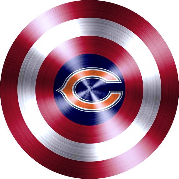 Captain American Shield With Chicago Bears Logo decal sticker