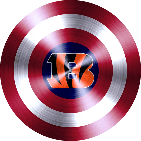 Captain American Shield With Cincinnati Bengals Logo decal sticker
