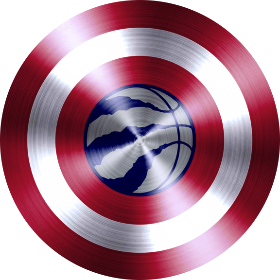 Captain American Shield With Toronto Raptors Logo decal sticker