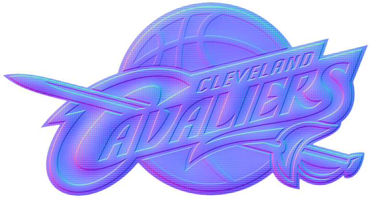 Cleveland Cavaliers Colorful Embossed Logo iron on sticker
