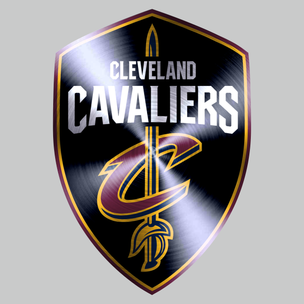 Cleveland Cavaliers Stainless steel logo iron on sticker