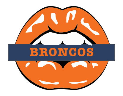 Denver Broncos Lips Logo decal sticker