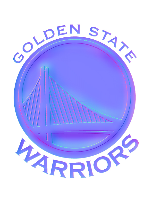 Golden State Warriors Colorful Embossed Logo iron on sticker