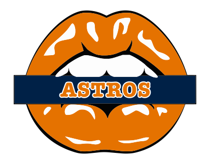 Houston Astros Lips Logo decal sticker