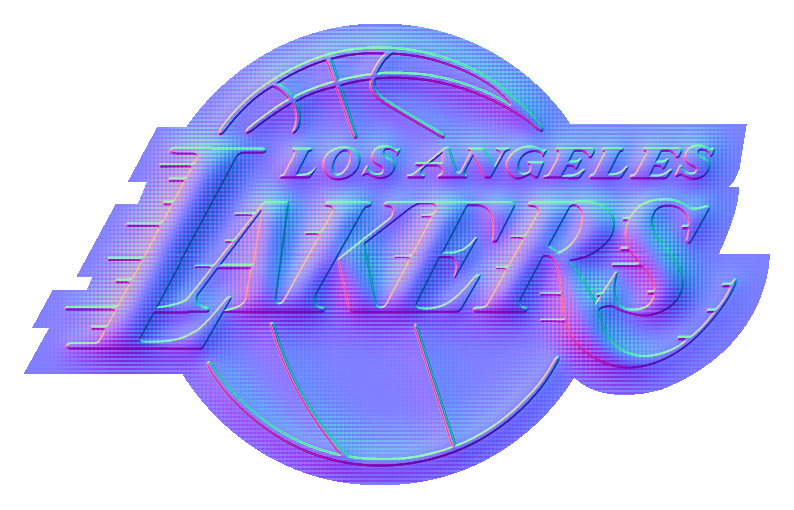 Los Angeles Lakers Colorful Embossed Logo iron on sticker
