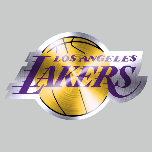 Los Angeles Lakers Stainless steel logo iron on sticker