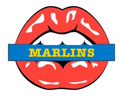 Miami Marlins Lips Logo decal sticker