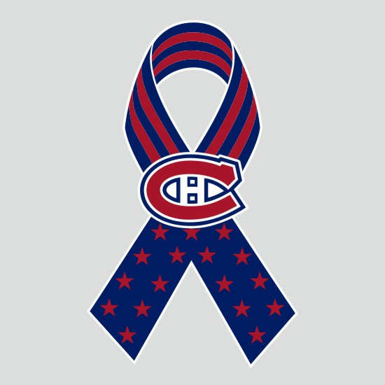 Montreal Canadiens Ribbon American Flag logo iron on sticker