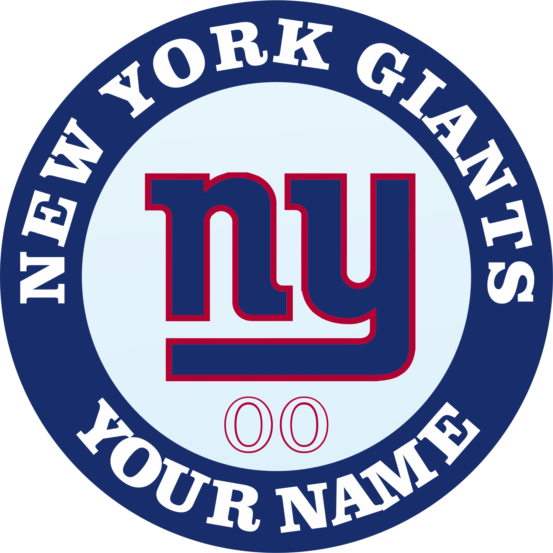 New York Giants Customized Logo iron on sticker
