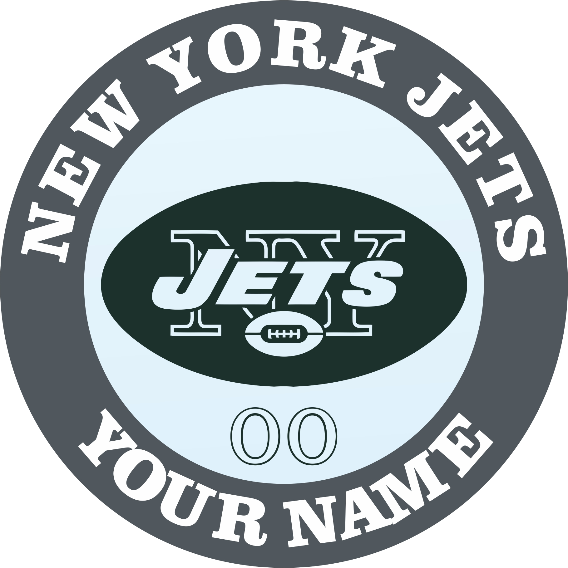 New York Jets Customized Logo iron on sticker