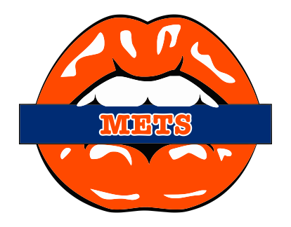 New York Mets Lips Logo decal sticker