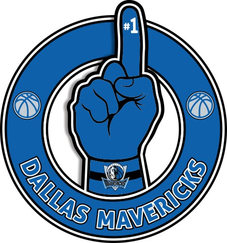 Number One Hand Dallas Mavericks logo iron on sticker