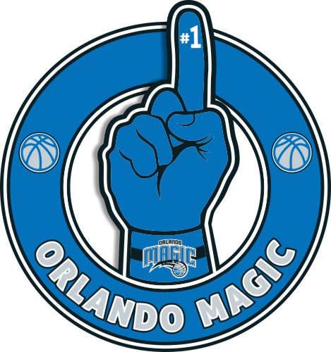 Number One Hand Orlando Magic logo iron on sticker