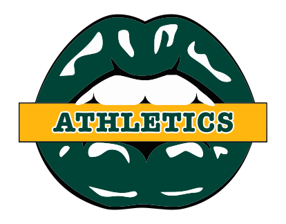 Oakland Athletics Lips Logo decal sticker