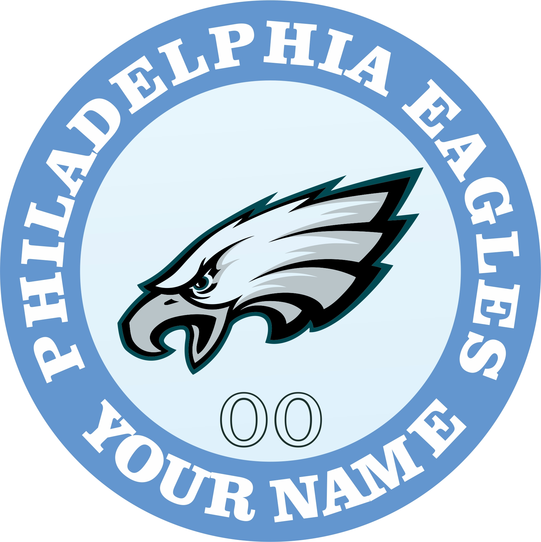 Philadelphia Eagles Customized Logo iron on sticker