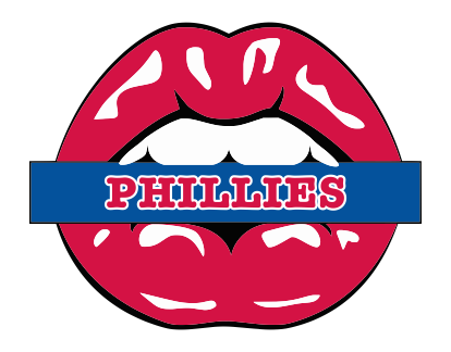 Philadelphia Phillies Lips Logo decal sticker
