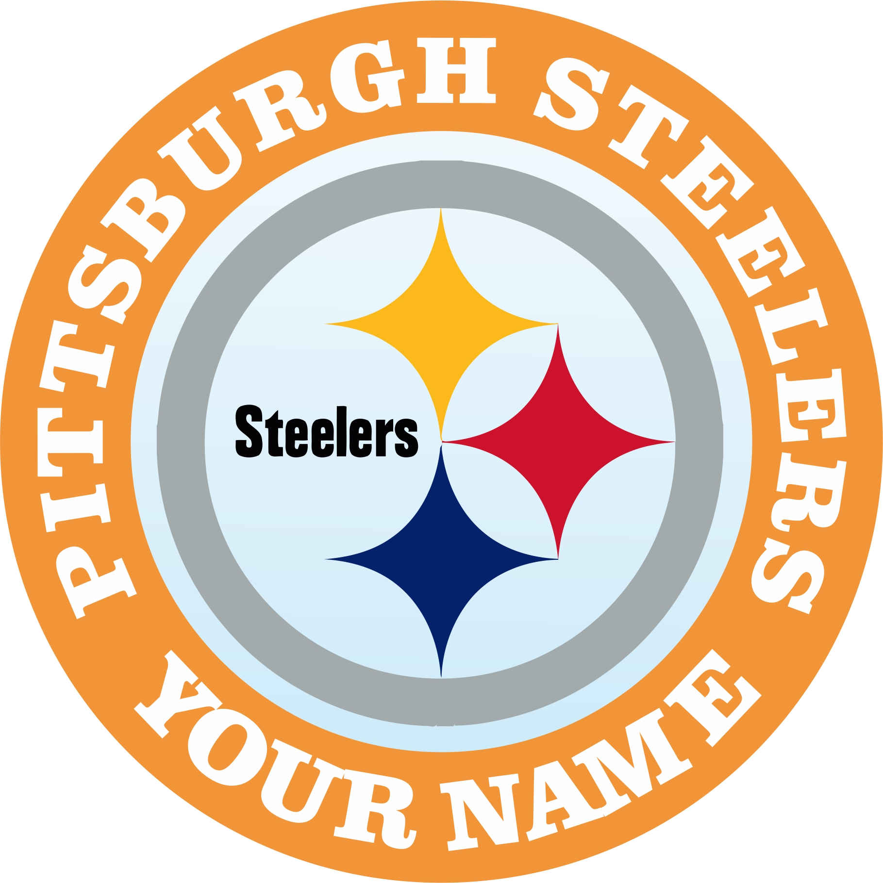Pittsburgh Steelers Customized Logo iron on sticker