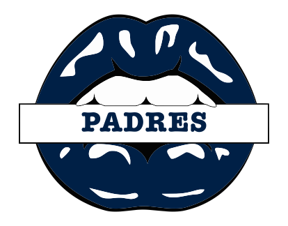 San Diego Padres Lips Logo decal sticker