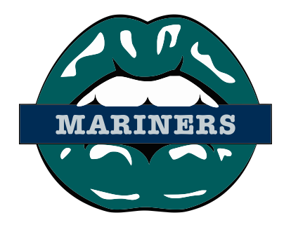 Seattle Mariners Lips Logo decal sticker
