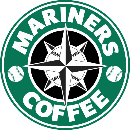 Seattle Mariners Starbucks Coffee Logo decal sticker