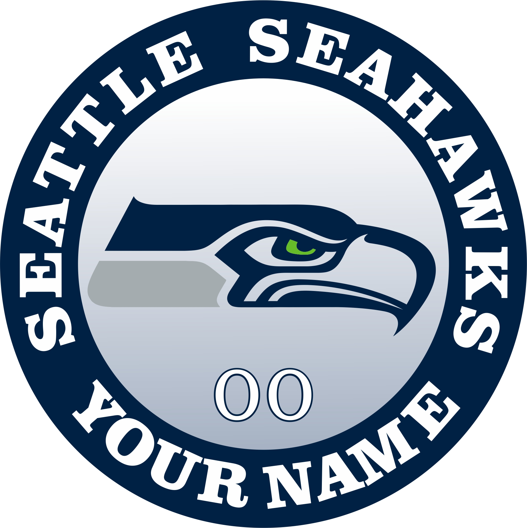 Seattle Seahawks Customized Logo iron on sticker