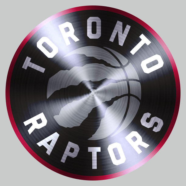 Toronto Raptors Stainless steel logo iron on sticker